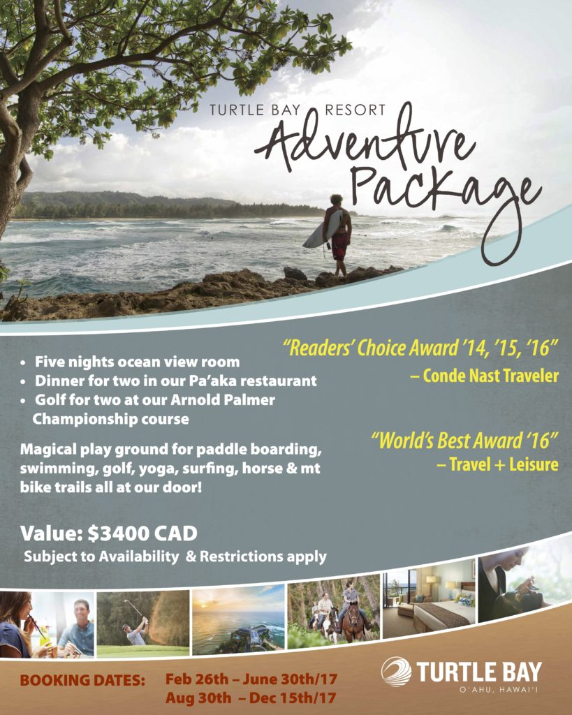 Turtle Bay Resort 5 nights Value $3400