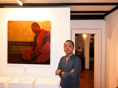 Lim Muy Theam in his home cum gallery Theam's House. The artist is passionate about promoting the arts and passing his skills down to younger generations. Photo by: MICHAEL SLOAN