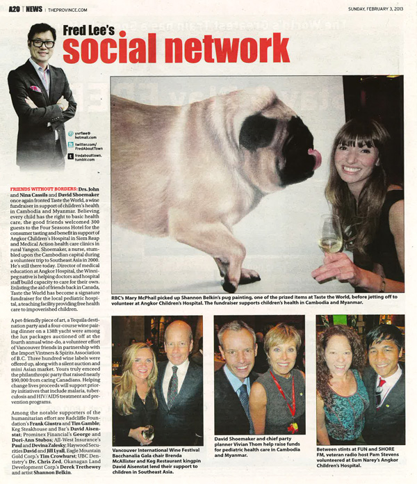 Fred Lee's Social Network, Vancouver Province, February 3, 2013