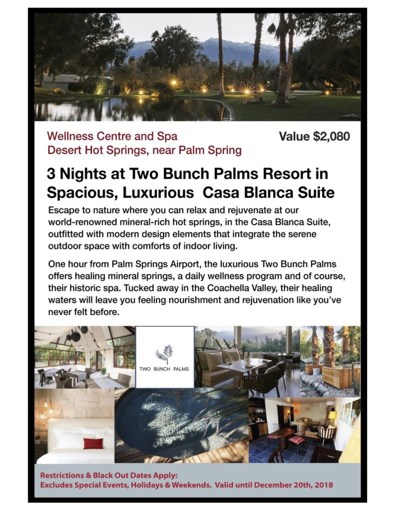 Two Bunch Palms Wellness Spa in Desert HOt Springs